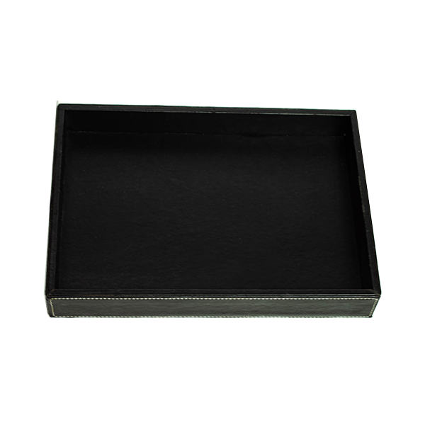 RENT Black Leather Box Jewellery Display Tray RENTLT2