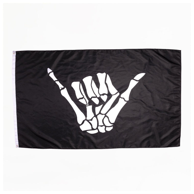 BONE SHAKA 3'X 5' FLAG // BLACK