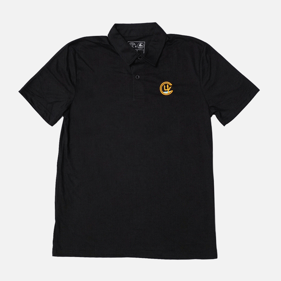 C4 FOUNDATION LOGO TECH POLO // BLACK