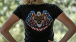 WOMEN'S AMERICAN EAGLE // BLACK V NECK