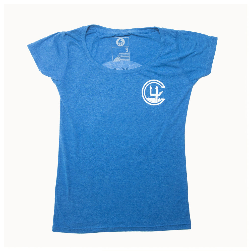 WOMEN'S FOUNDATION EVENT SHIRT // POLY RICH ROYAL BLUE HEATHER