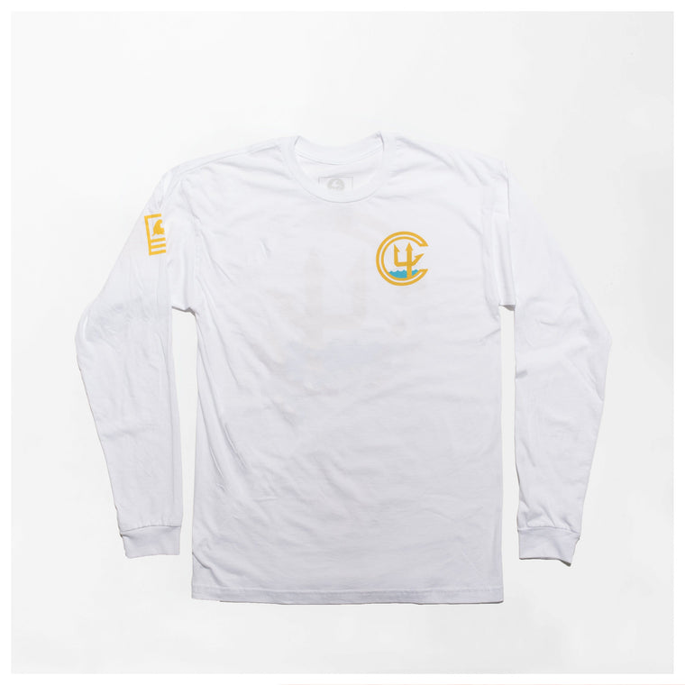 CHKIV FOUNDATION LONGSLEEVE // WHITE
