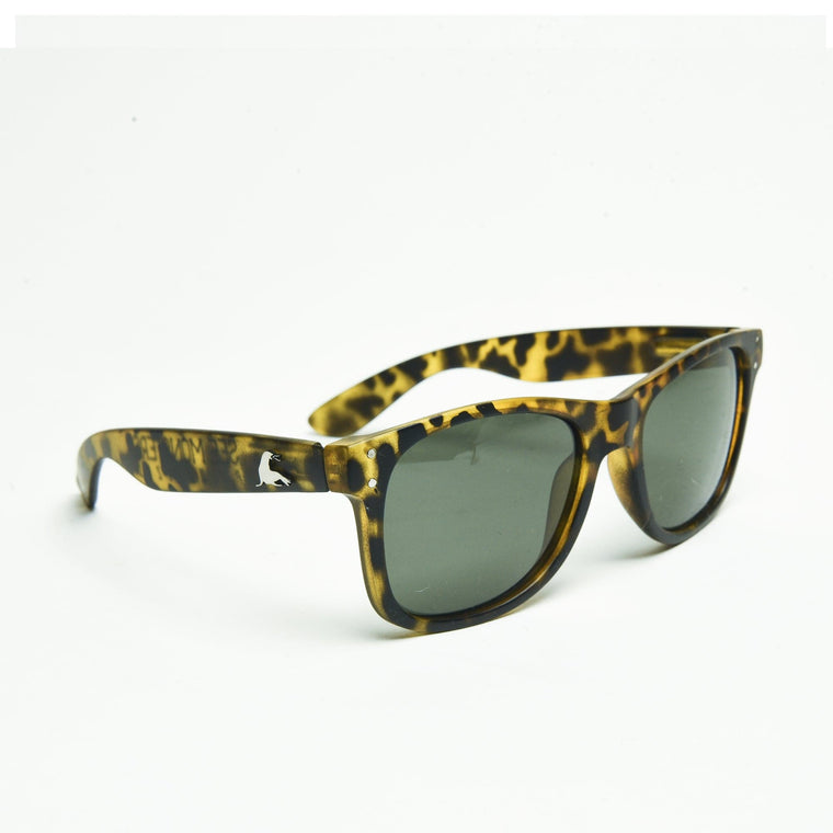 SEE MONSTER POLARIZED SHADES // MATTE LEOPARD SHARK