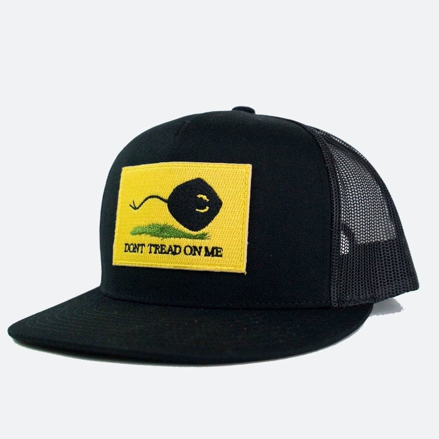 DON'T TREAD ON ME PATCH // FLAT BLACK TRUCKER
