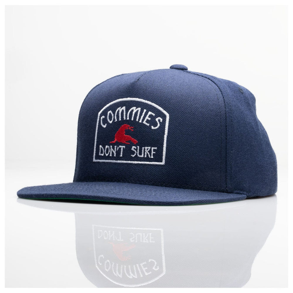 COMMIES DON'T SURF 6 PANEL // NAVY