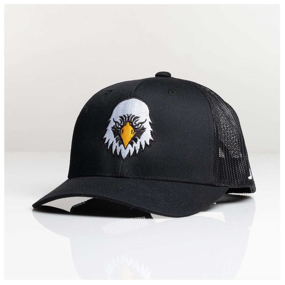 AMERICAN EAGLE RETRO TRUCKER SNAPBACK // BLACK
