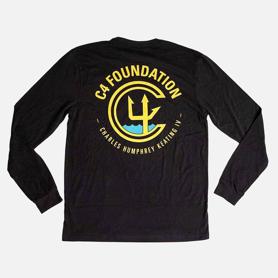 C4 FOUNDATION LOGO SUEDED L/S // BLACK