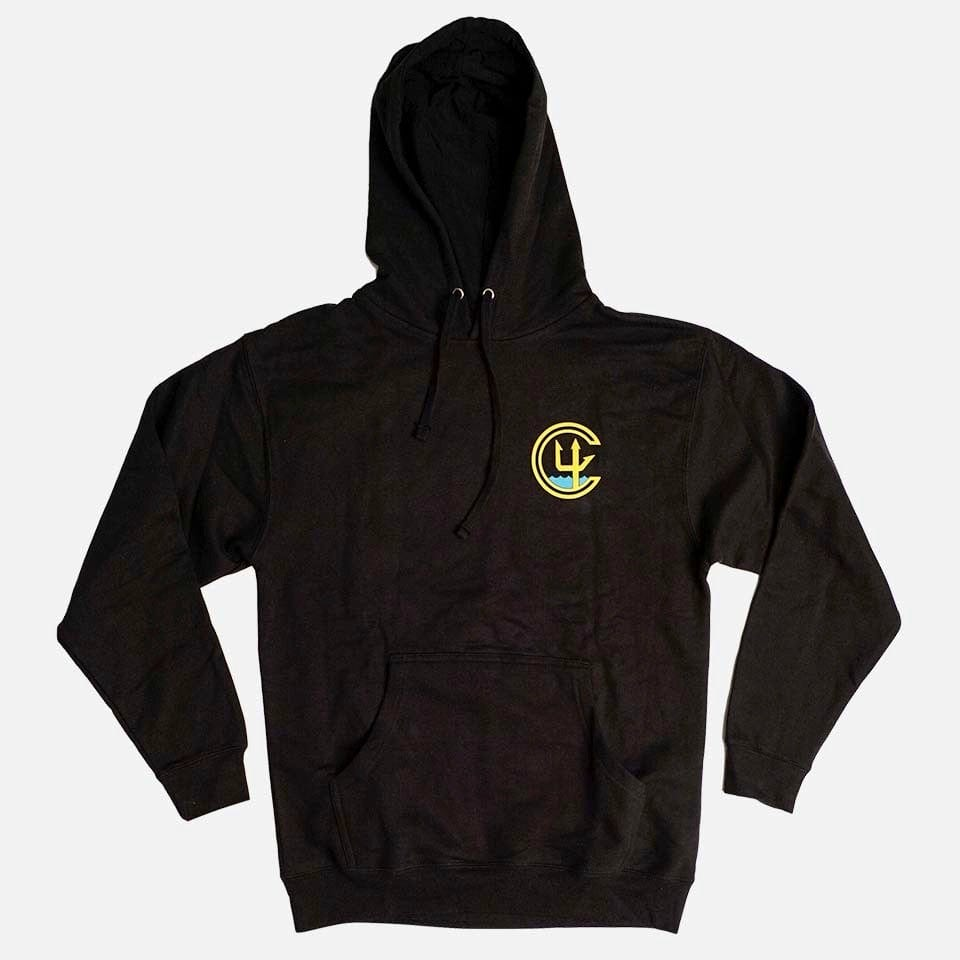 C4 FOUNDATION LOGO HOODY // BLACK