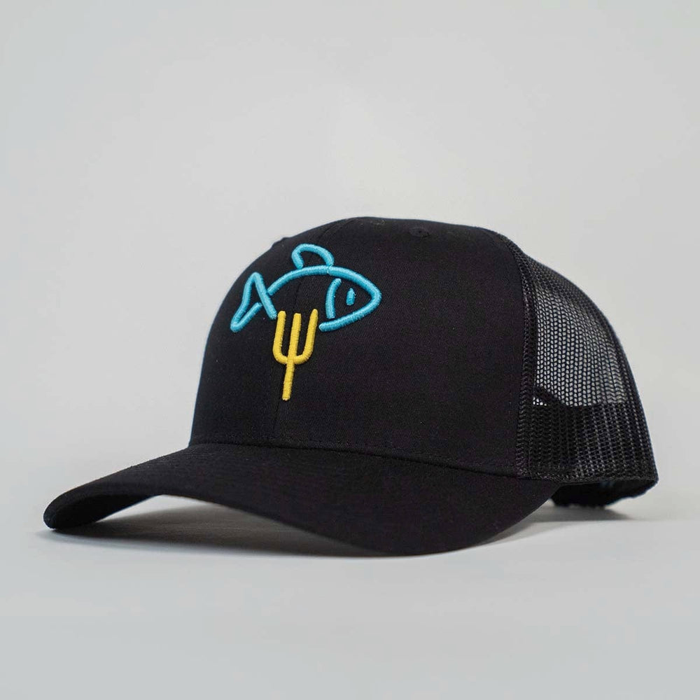 FISH MRKT RETRO TRUCKER // BLACK