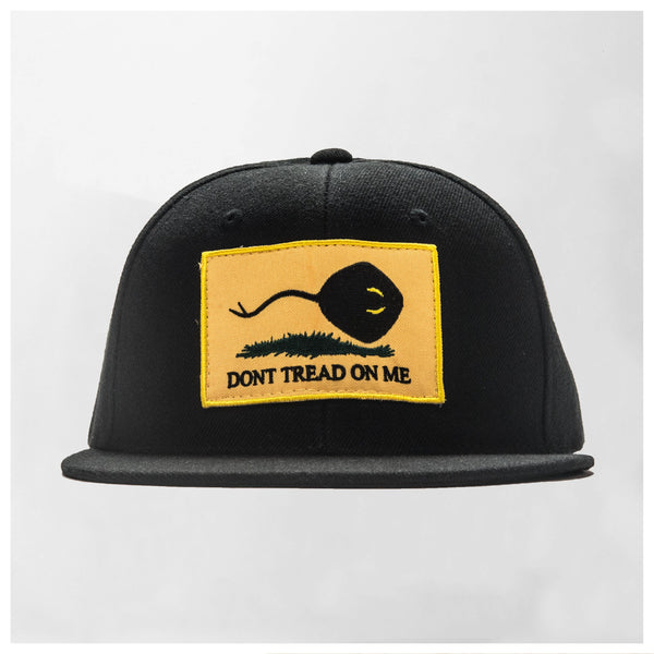 DON'T TREAD ON ME PATCH // BLACK SNAPBACK