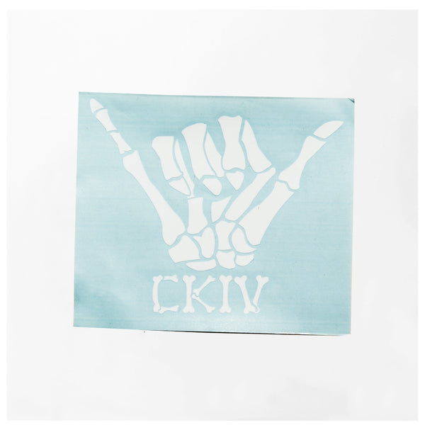 "BONE SHAKA VINYL DECAL 5.5"" WIDE // 2 COLORS"