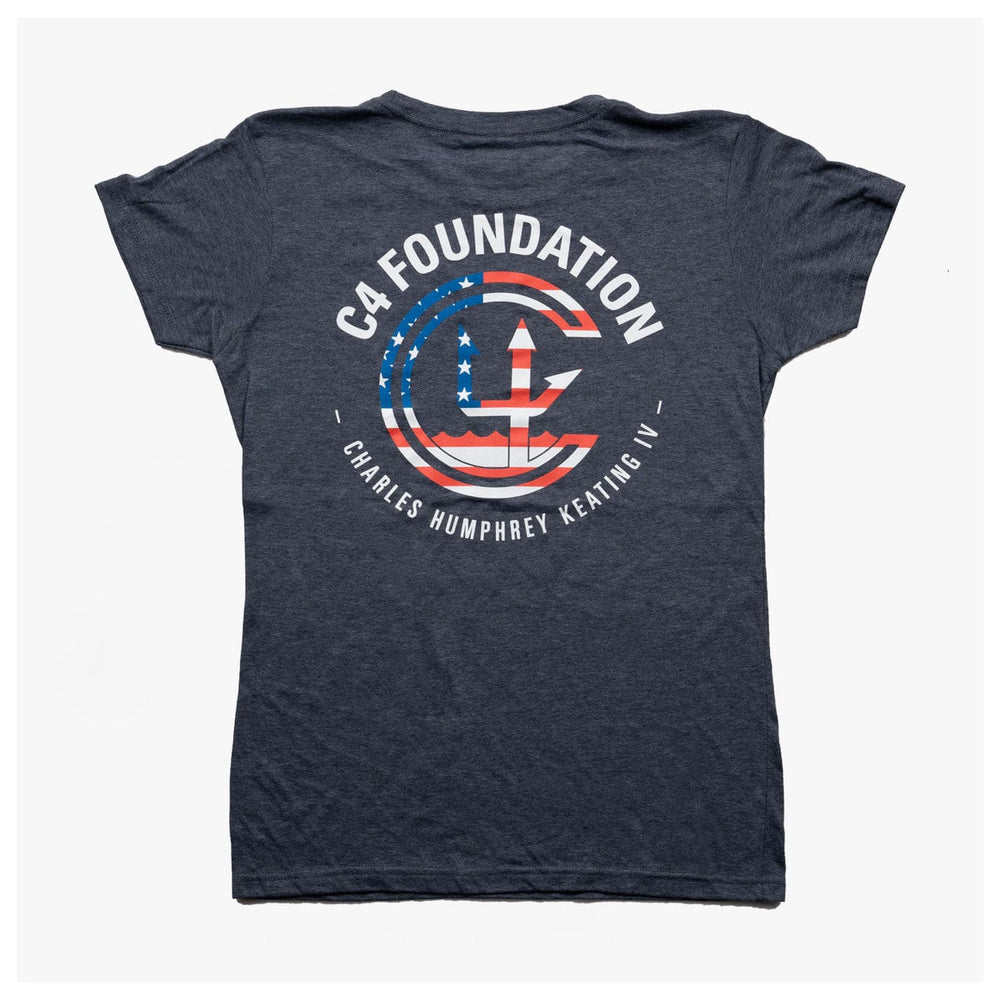 WOMEN'S USA FOUNDATION CREW NECK // NAVY HEATHER