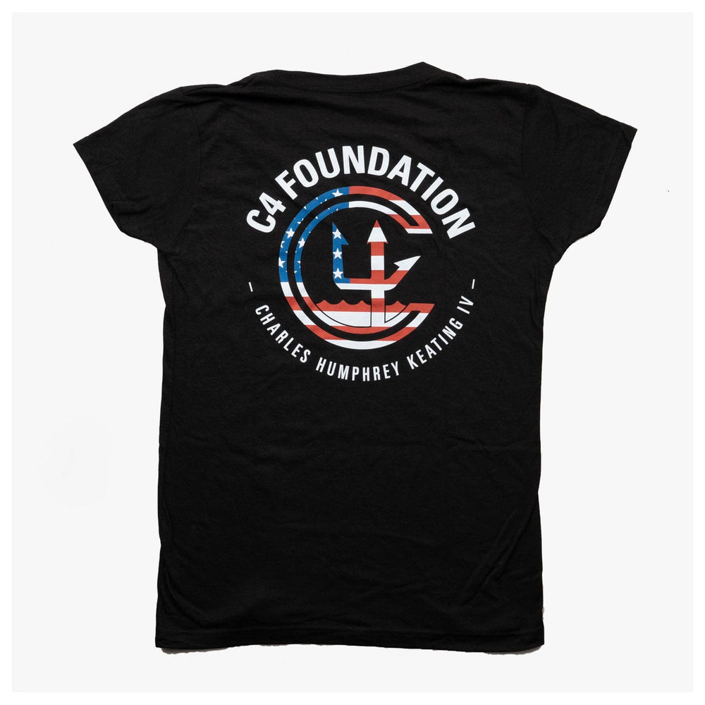WOMEN'S USA FOUNDATION V NECK // BLACK