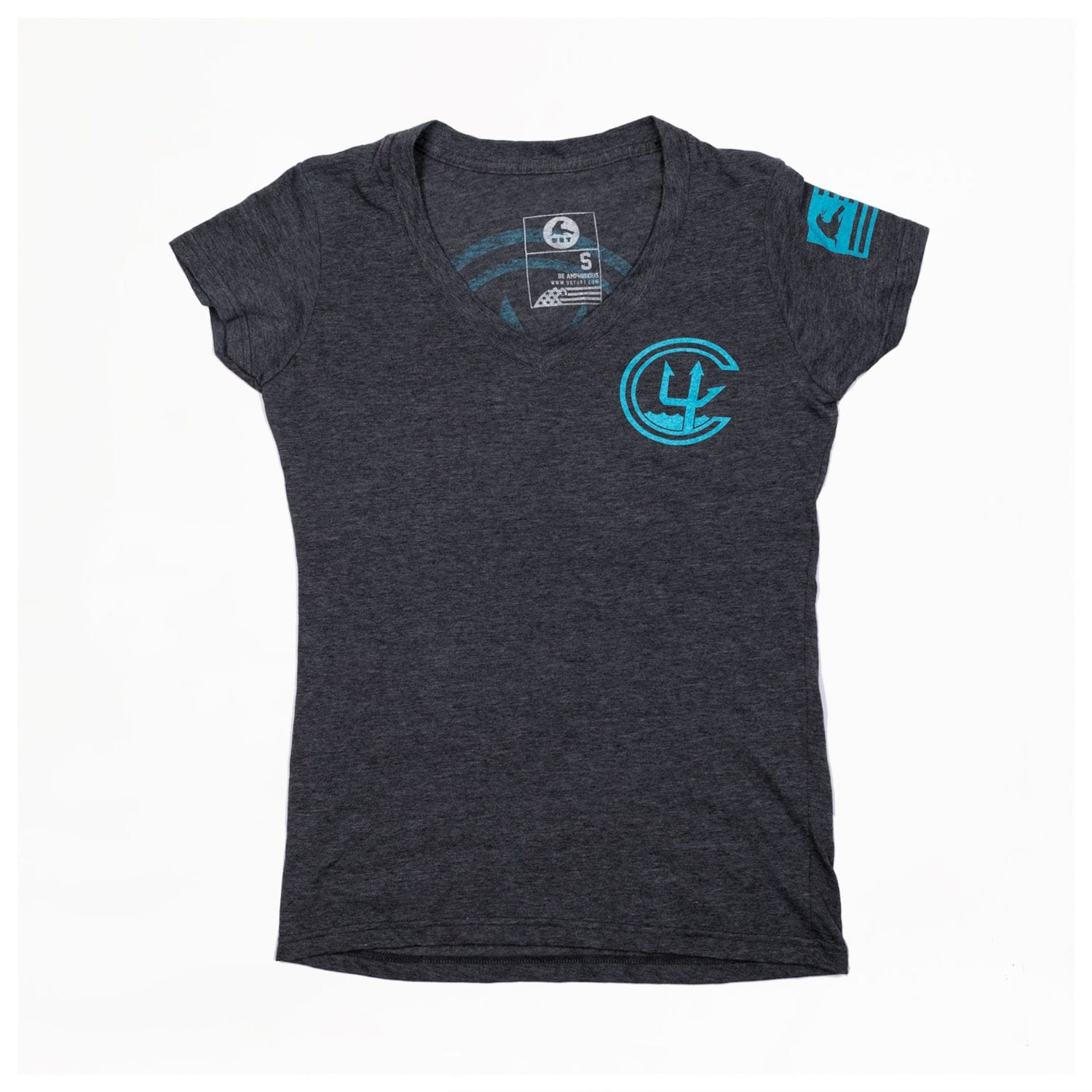 WOMEN'S C4 FOUNDATION LOGO // CHARCOAL HEATHER