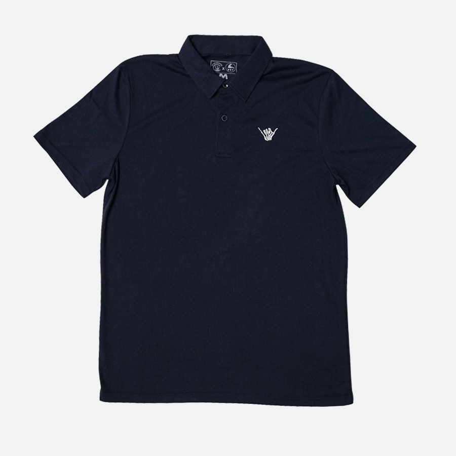 BONE SHAKA TECH POLO // NAVY