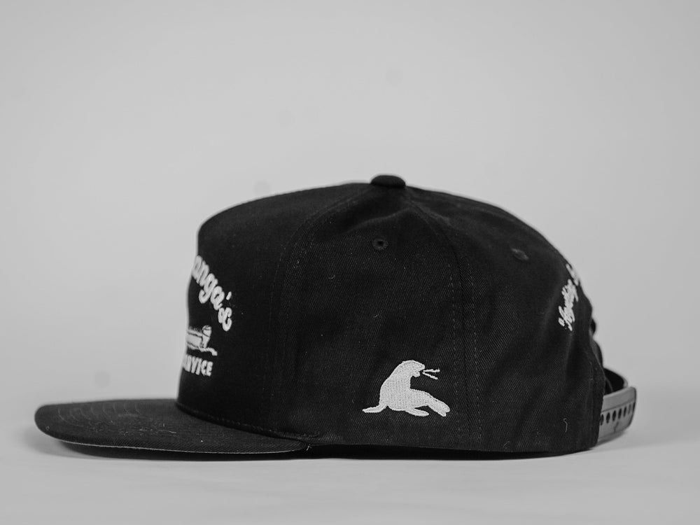 DON PANGA'S DELIVERY SERVICE 5 PANEL SNAPBACK // BLACK