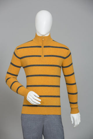 RAW YELLOW STRIPE SWEATER