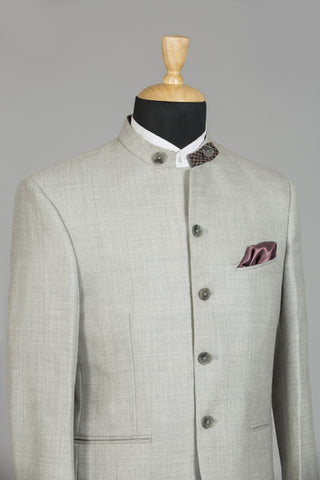 LIGHT GREY BANDHGALA DELHI JACKET