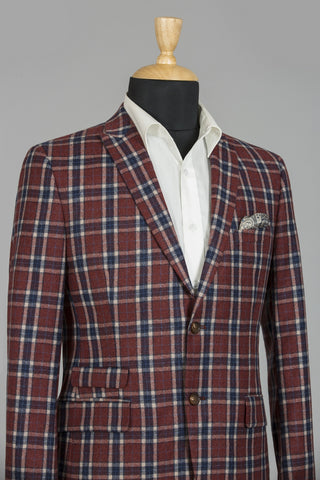 RED & BLUE CHECKERED NEW YORK JACKET