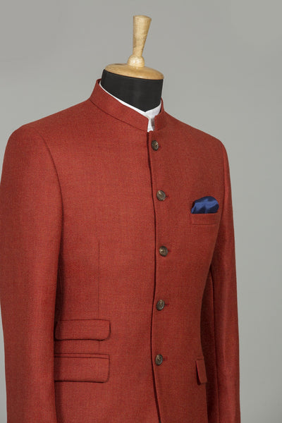 REDDISH ORANGE AMRITSAR BANDHGALA JACKET