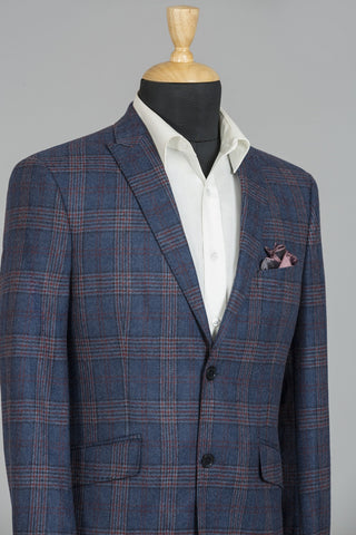 BLUE & RED CHECKERED MILANO JACKET