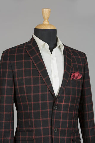 BLACK & RED CHECKERED LONDON JACKET
