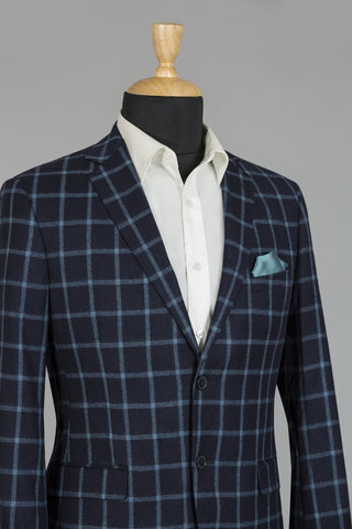 NAVY & LIGHT BLUE CHECKERED LONDON JACKET