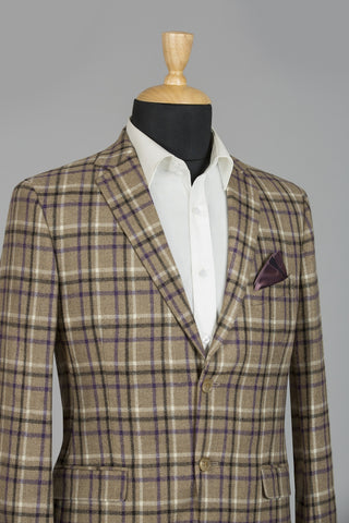 LIGHT BROWN CHECKERED LONDON JACKET