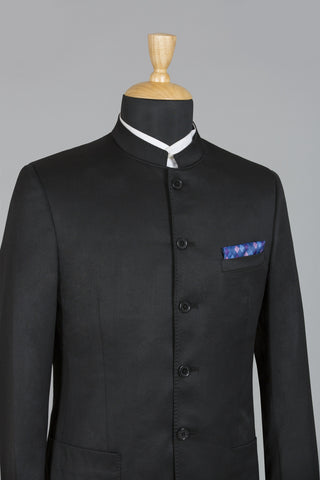BLACK BUSINESS BANDHGALA JACKET