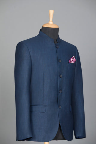 Blue Bandhgala Jacket