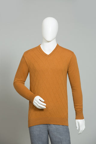 ORANGE ROUND NECK SWEATER