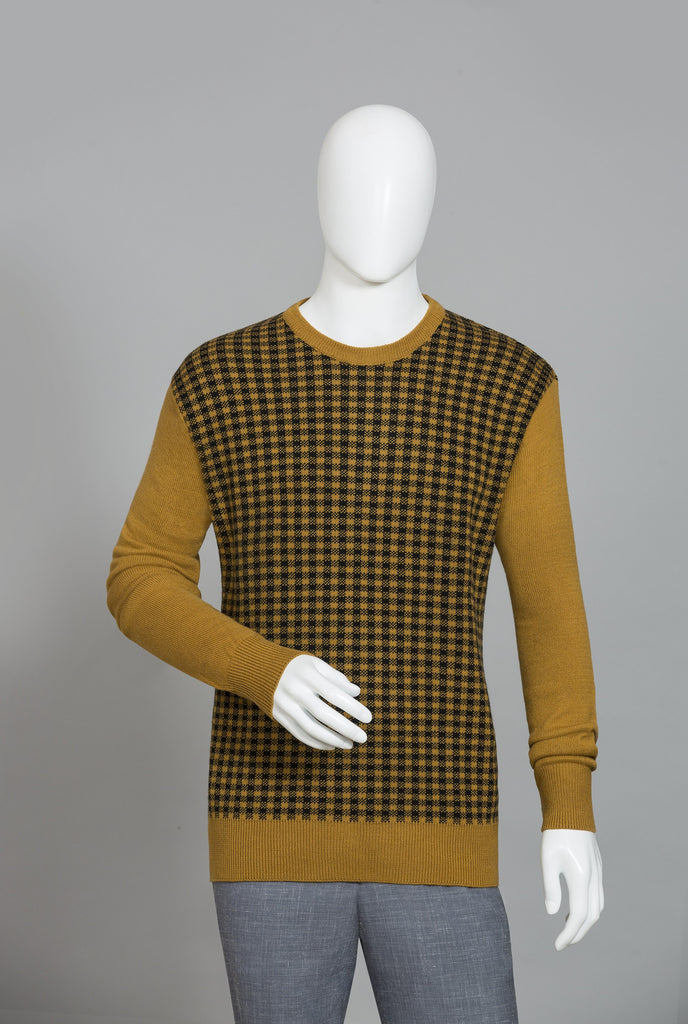 RAW YELLOW  ROUND NECK SWEATER