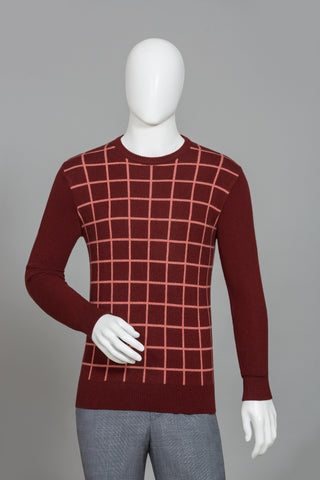 MAROON ROUND NECK SWEATER