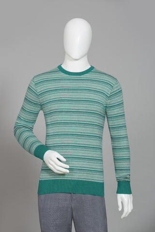 GREEN ROUND NECK SWEATER