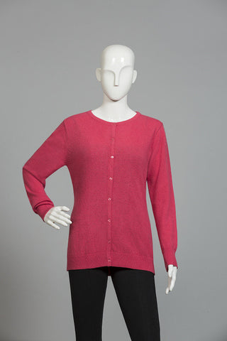 MAGENTA PINK ROUND NECK SWEATER