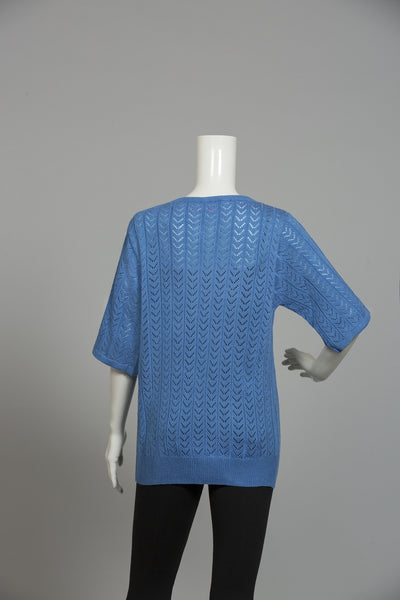 FRENCH BLUE ROUND NECK SWEATER