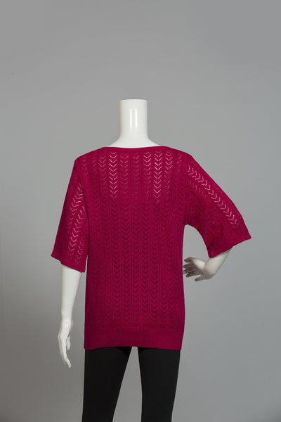 BURGANDY ROUND NECK SWEATER