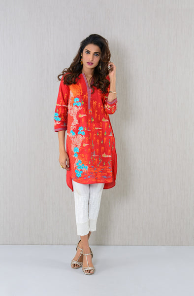 Designer wear embroidered Kurta