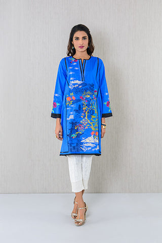 Floral  pattern embroidered Kurta
