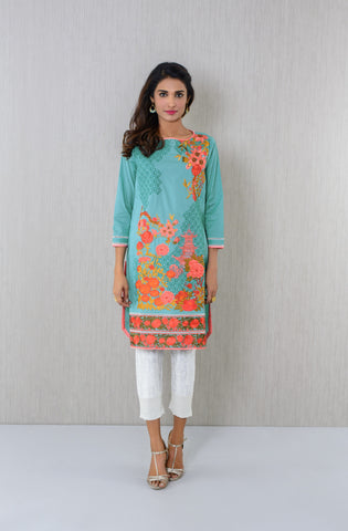 Embroidered teal Kurta