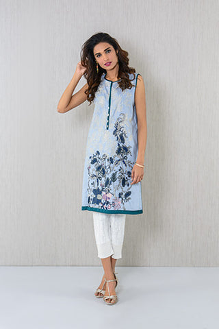 Ethnic sleeveless embroidered Kurta