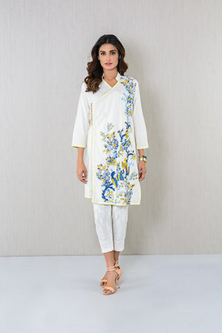 Floral design embroidered Kurta