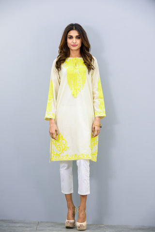 Cotton embroidered Kurta