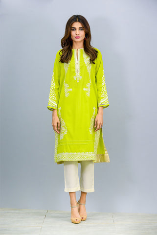 Round neck embroidered Kurta