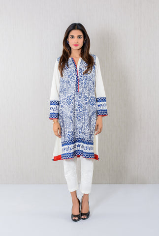 Off-white  embroidered Kurta