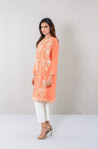 Floral embroidery Kurta