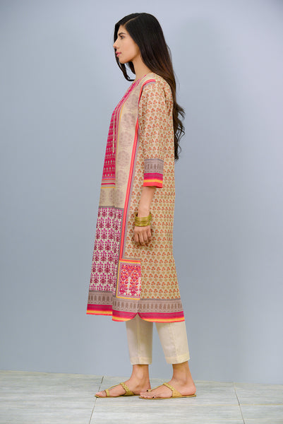 Quarter sleeves printed Kurta