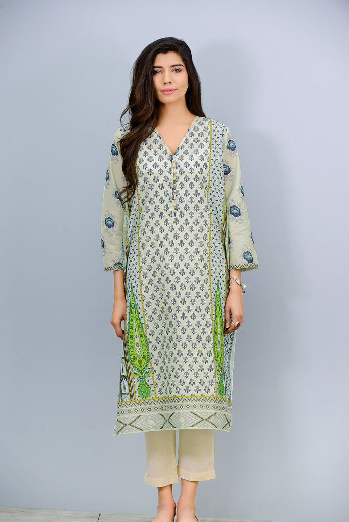V neck printed Kurta