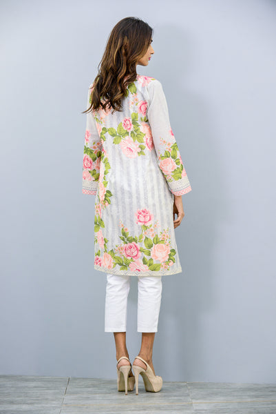 Full sleeves printed Kurta