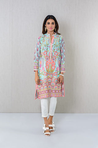Aqua embroidered Kurta